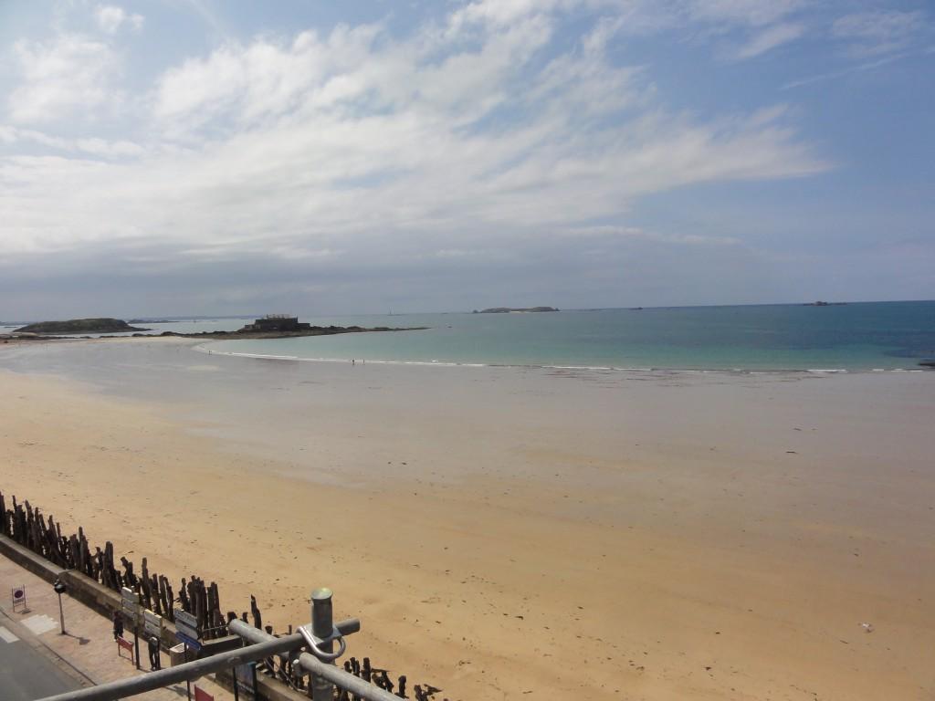Vue mer depuis l'Hôtel Le Nouveau Monde à Saint-Malo