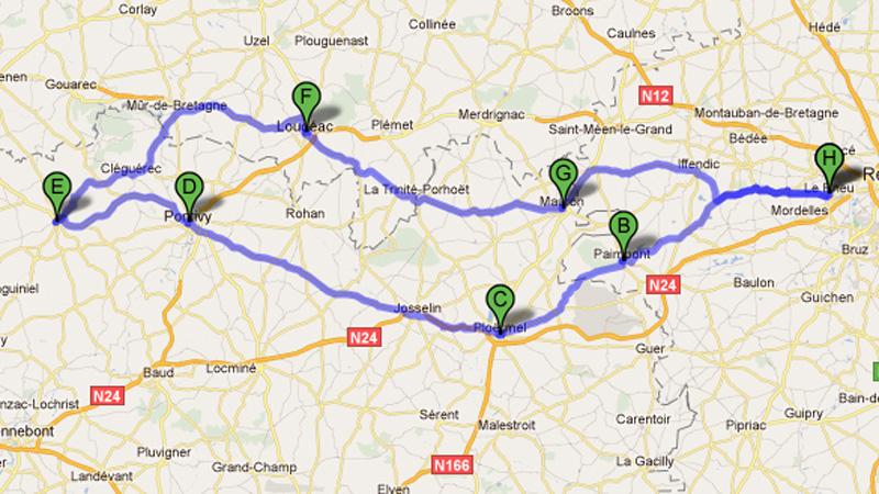Roadbook Rennes Pontivy