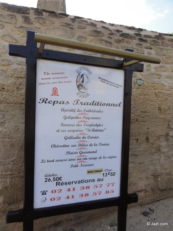 Menu unique à la cathédrale de la Saulaie