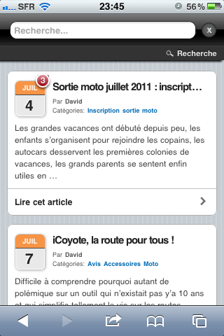 Version mobile du site Jazt.com