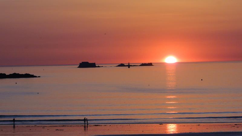Couché de soleil à Saint-Malo
