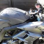 mouiller abondemment la moto