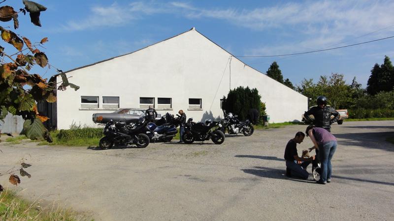Motards sortie moto en Bretagne