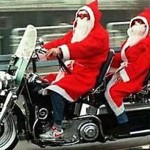 Père Noël 2012 en Harley Davidson