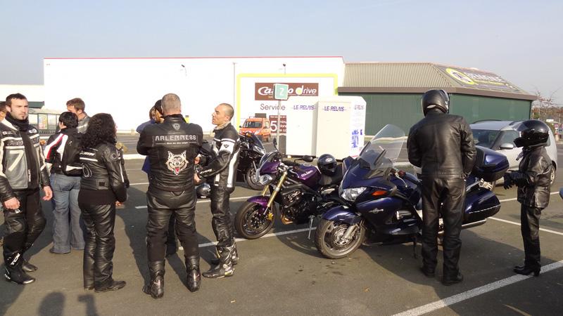 Au départ de Rennes : motard Rennais