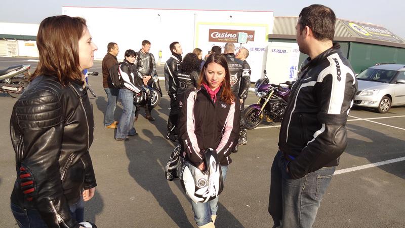 Motards Nantais au départ de cette sortie moto Bretonne