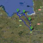 Itinéraire sortie moto mars 2012 au départ de Rennes