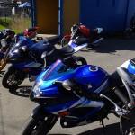 Les GSXR au Ducati Store de Rennes