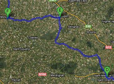 Parcours moto au départ de Rennes