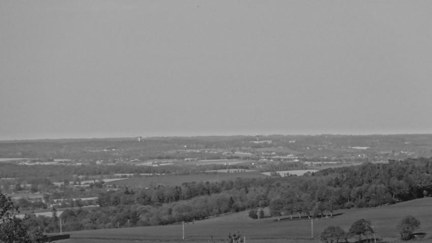 Vue sur l'horizon à Collinée