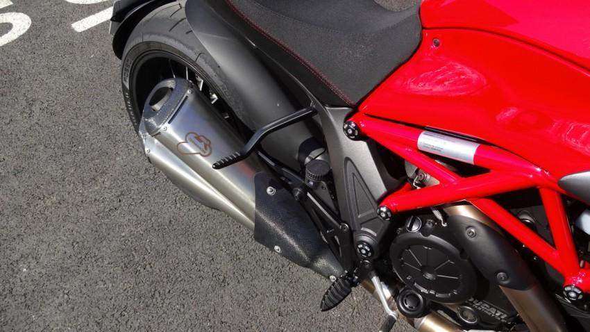 Belle finition sur le Ducati Diavel
