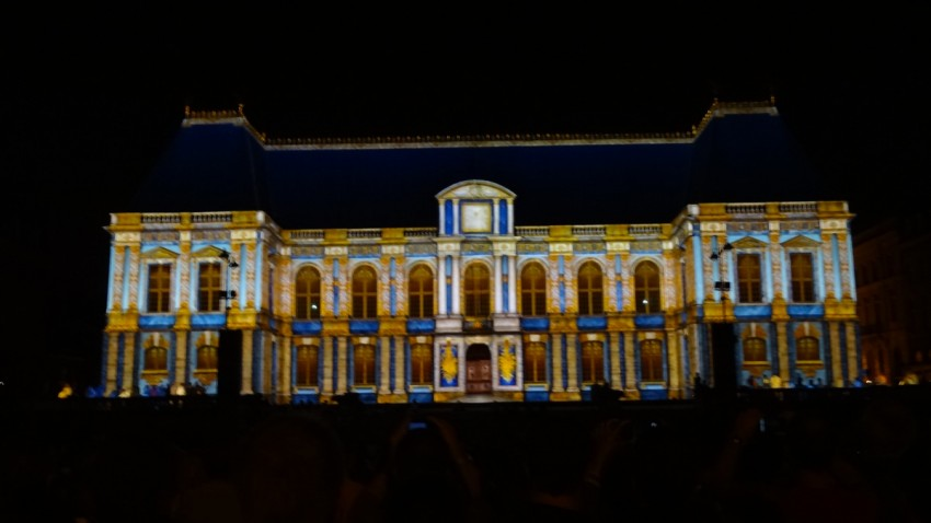 Illumination du Parlement à Rennes