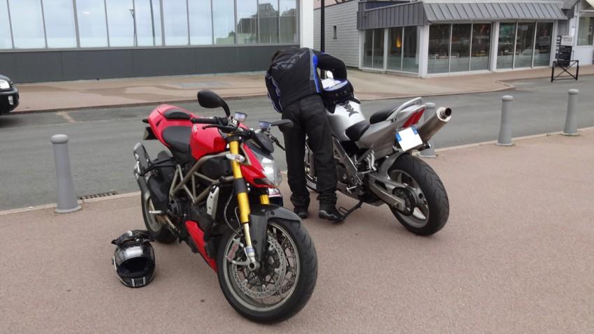 Deux motards Rennais à Perros-Guirec