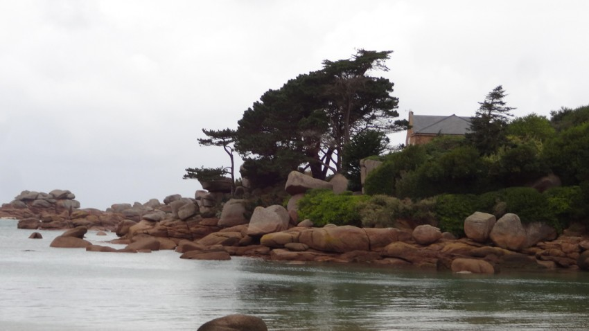 plage de granit rose