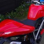 peinture rénovée de moto