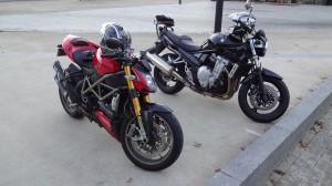 sortie moto en hiver au départ de Rennes