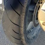 prise d'angle pneu arrière bandit