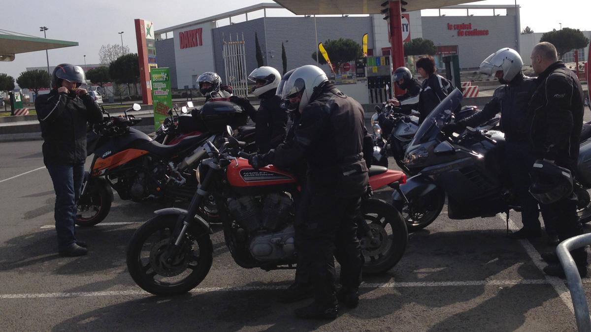 sortie moto à Rennes des motards Rennais