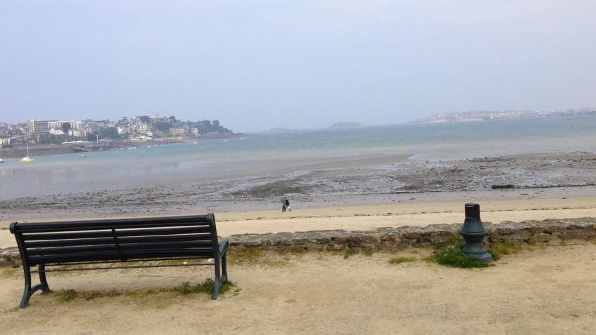 vue mer Saint-Malo depuis Dinard (par la côte)