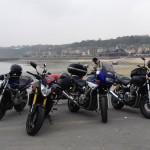 arrêt moto à Cancale