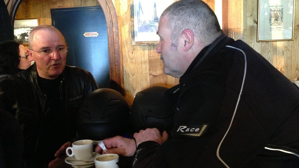 Didier et Jean Pierre (motard)