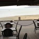 vue mer depuis la terrasse du Tangon à Cancale