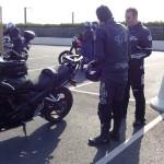 Jean-Claude au départ de cette sortie moto