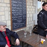 pause café au port de Dinan