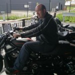 David Jazt en Harley Davidson Nightroad