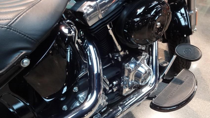 pédale de frein arrière sur le Slim Harley