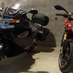 BMW K1300GT et Ducati 1098 S Streetfighter de David Jazt