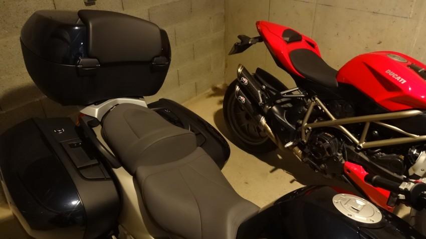 confort entre la Ducati et la BMW