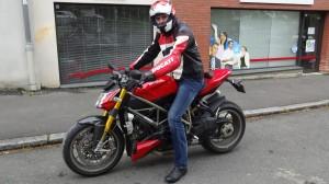 Guillaume, nouveau propriétaire de la Ducati de David Jazt