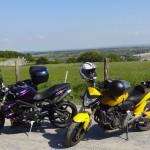 Les 3 motos de cette sortie moto à la journée