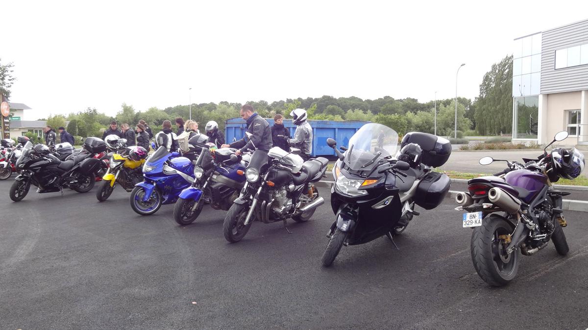 Erquy et les motards Rennais