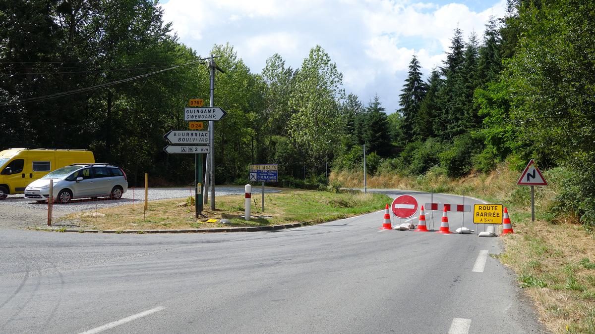 route corlay guingamp en juillet 2013
