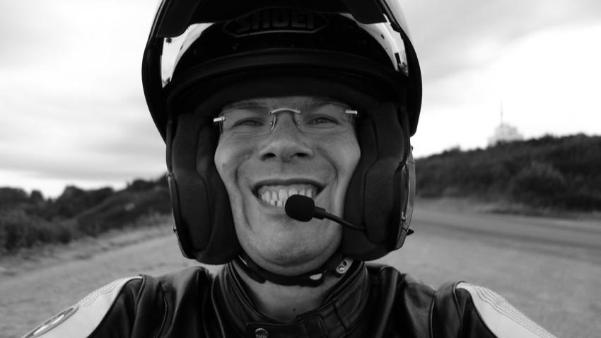 David Jazt en balade moto