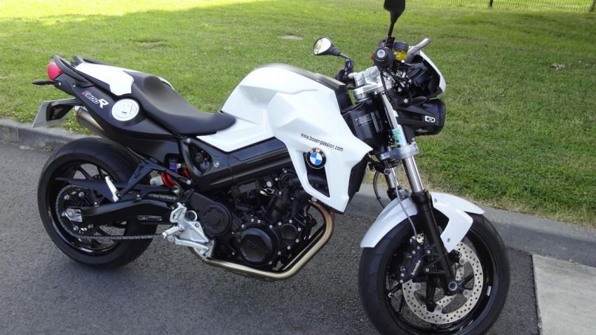 BMW F800R blanche Rennes boxer passion