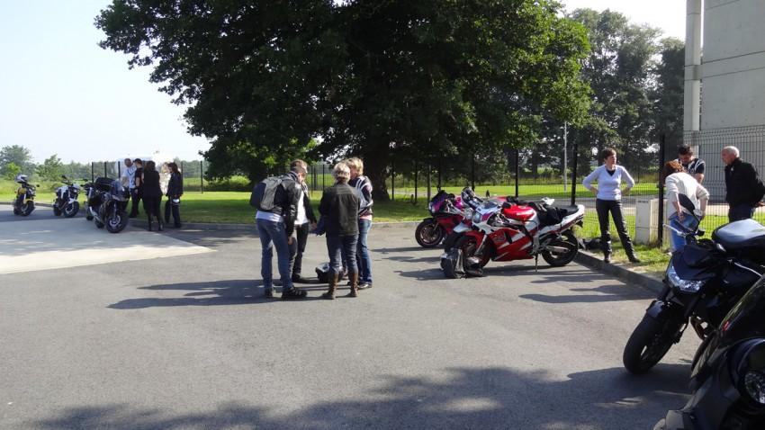 motards rennais au départ de cette sortie moto
