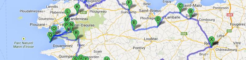 Balade moto en Bretagne