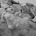 les rochers à Santec à la plage du Dossen