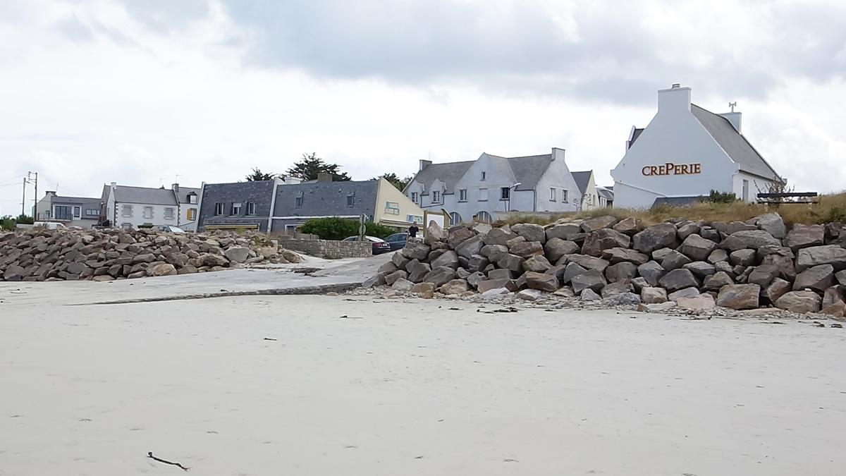 accès depuis la plage du Dossen (Santec - dep 29)