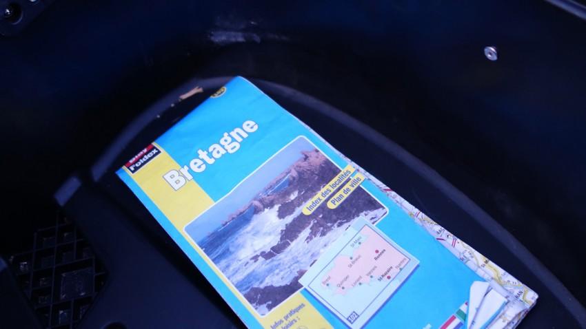 carte routière de la Bretagne de David Jazt offert par Jean-Claude