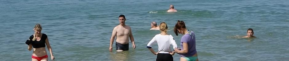 motarde Rennaise à la plage de Lancieux