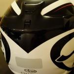 vue arrière casque moto arai chaser 5