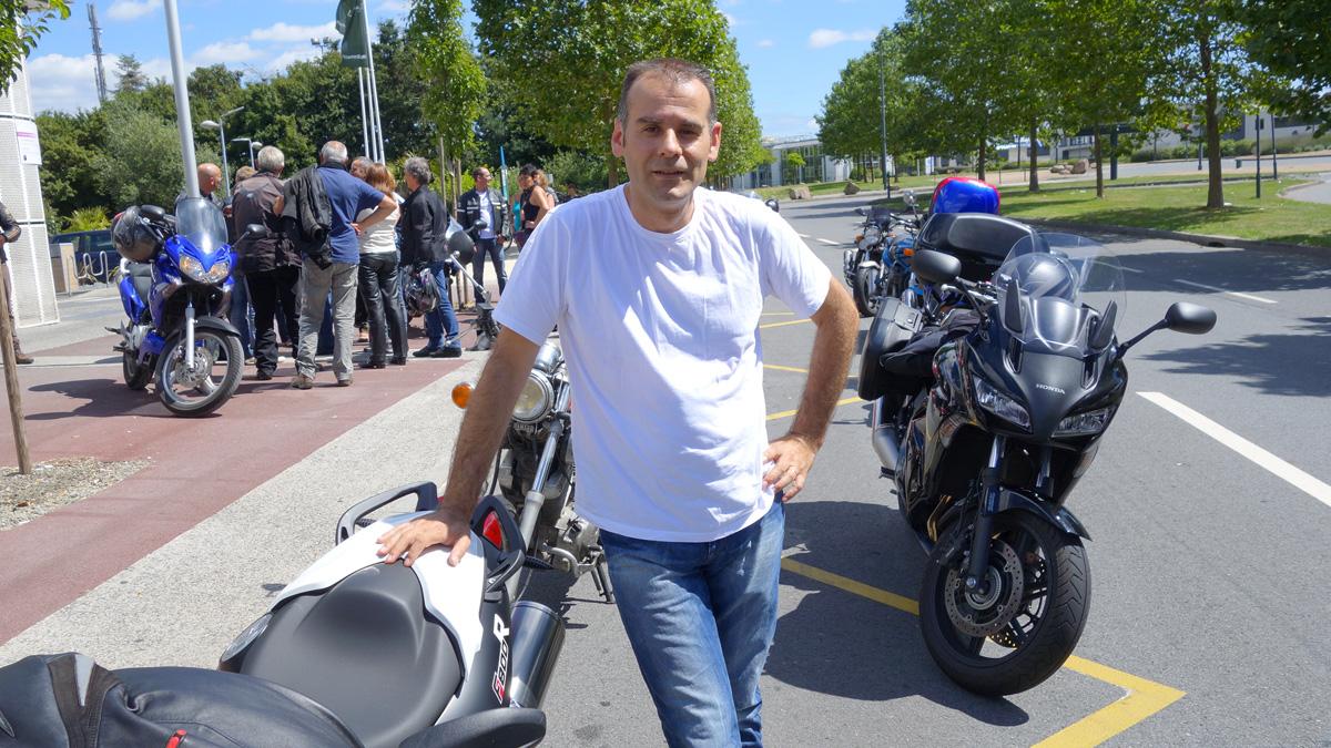 Jean-claude : motard Rennais