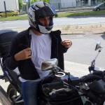 motard rennais à trop chaud à Rennes