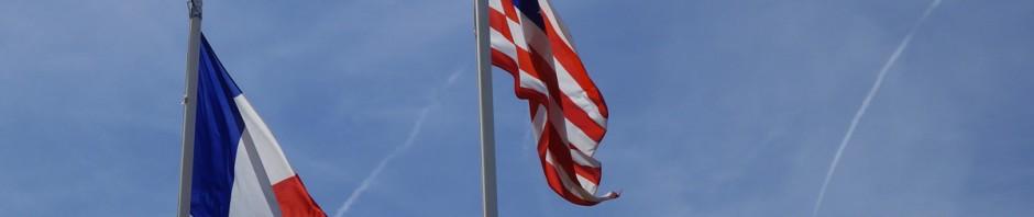 soldat sous les drapeaux Français et Américain