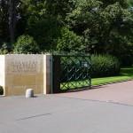 Entrée du cimetière Américain (Normandie)