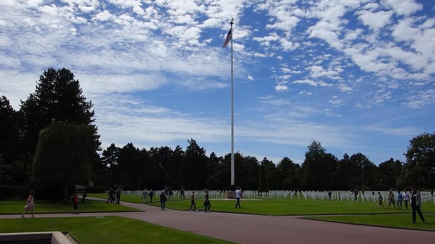 ambiance cimetière américain